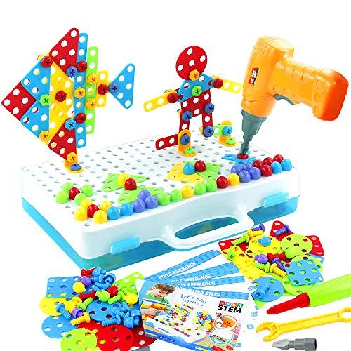Mosaik Steckspiel 3D Puzzle - Bohrmaschine...