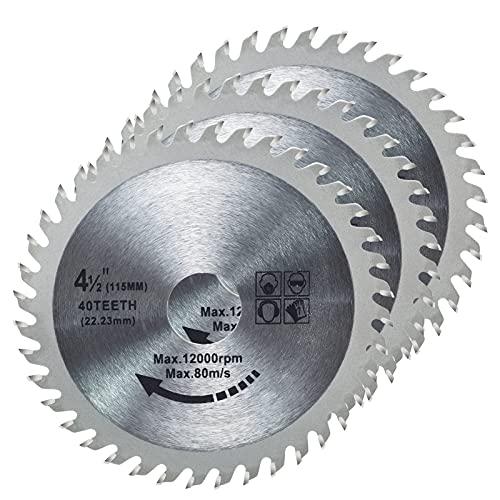 3 Stück 115 mm Hartmetall-Sägeblatt 11,4 cm...