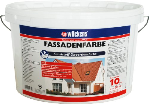 Wilckens Fassadenfarbe, 10 L, weiß...