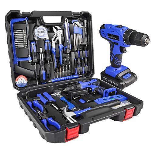 LETTON Werkzeugkoffer mit Bohrmaschine 21V...
