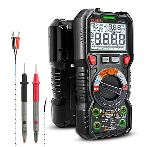 KAIWEETS Digital Multimeter mit LED-Buchsen,...