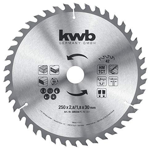 kwb 589359 Baukreissägeblatt 250 x 30,...