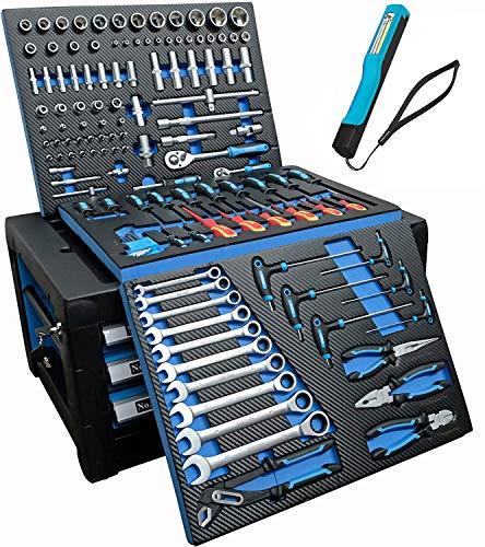 DeTec. Werkzeugkiste 2033 drei Schubladen...