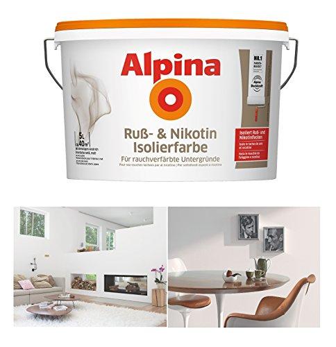 Alpina Ruß- & Nikotin Isolierfarbe, 5 Liter...