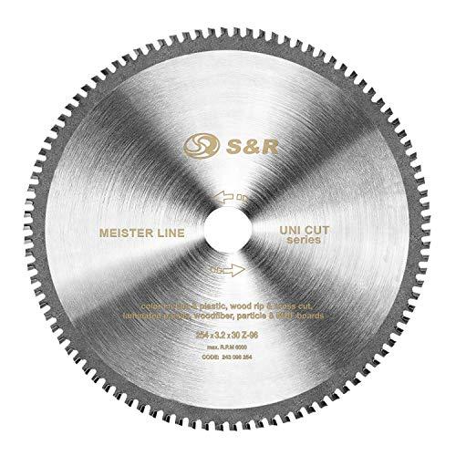 S&R Kreissägeblatt 254 x 30 x 3,2 mm 96T...