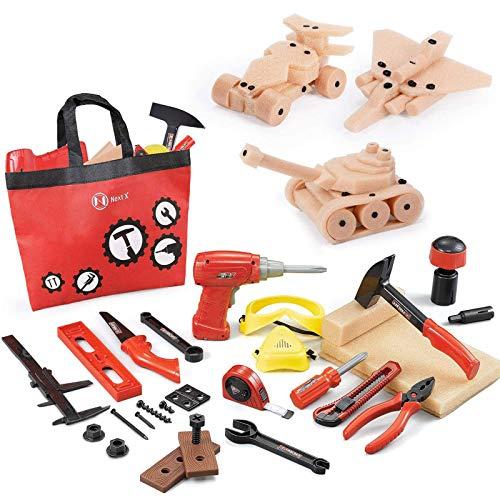 NextX Werkzeug Spielzeug 69 Stücke mit...