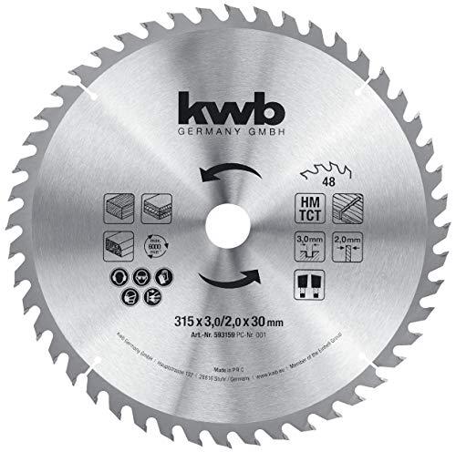 kwb 593159 Baukreissägeblatt 315 x 30,...