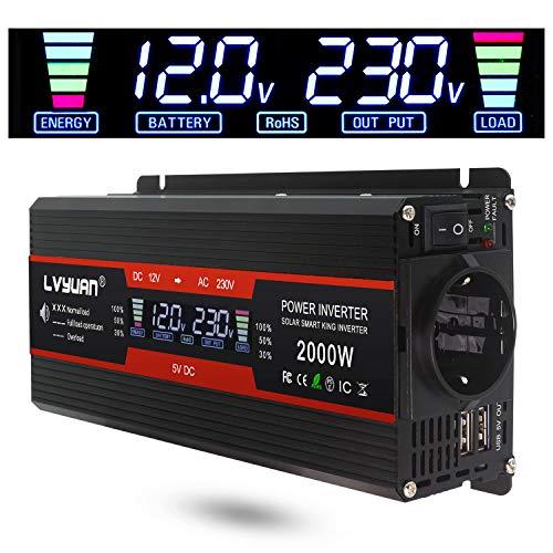 LVYUAN Spannungswandler 12V 230V 1000W /...