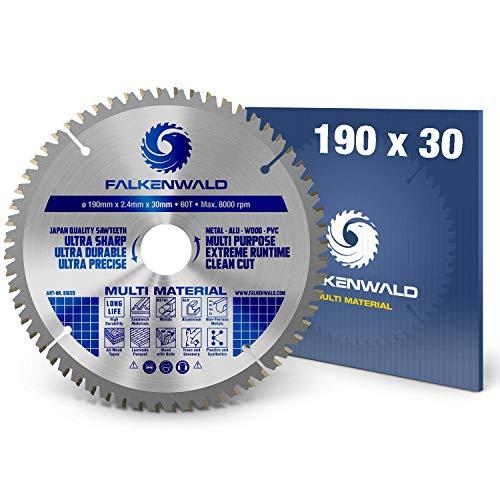 FALKENWALD ® Kreissägeblatt 190 x 30 mm -...