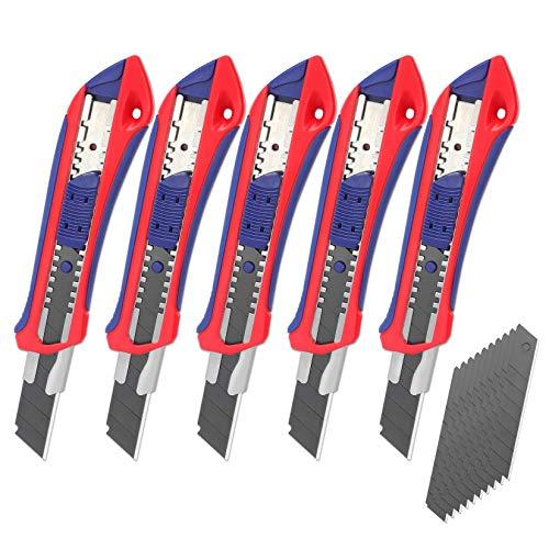 WORKPRO 5 Stück Cuttermesser Set 18mm...