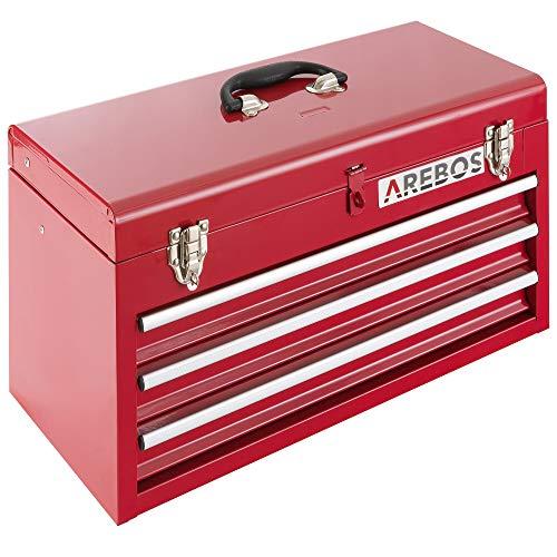 Arebos Werkzeugkoffer mit 3 Schubfächer...