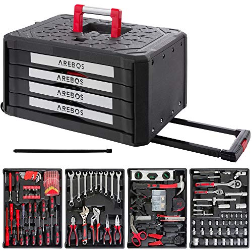 Arebos Werkzeugkoffer inkl. Werkzeug |...
