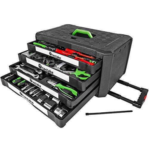 TecTake 899 teiliger Werkzeugkoffer mit 4...