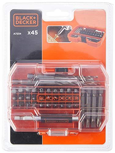 Black & Decker 45-teilig Bit- und Bohrer-Set...