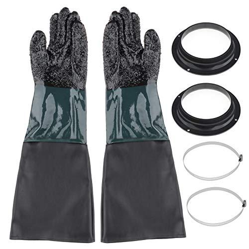 D DOLITY 600mm PVC Sandstrahlerhandschuh für...