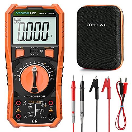 Crenova Digital multimeter, TRMS Voltmeter...
