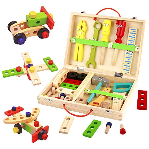 Werkzeugkoffer Kinder Holzspielzeug...