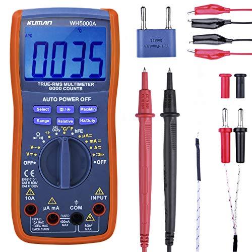 kuman Digital Multimeter, True RMS6000 zählt...