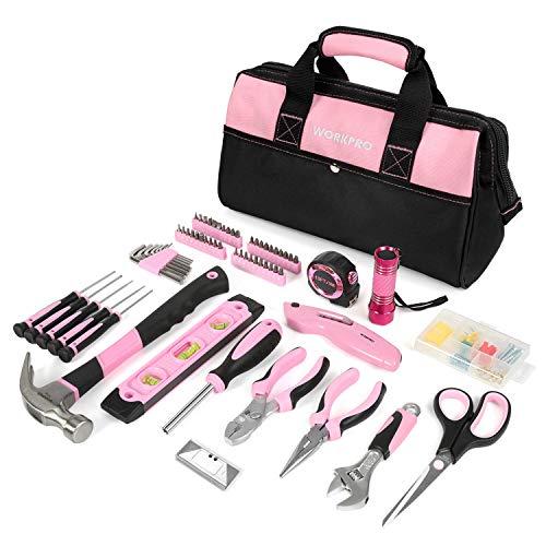 WORKPRO Werkzeugset Rosa Reparaturset...