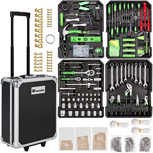tectake 401321 Werkzeugkoffer 1200-teilig mit...