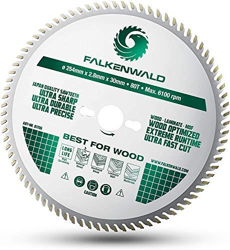 FALKENWALD ® Sägeblatt 254x30 für Holz -...