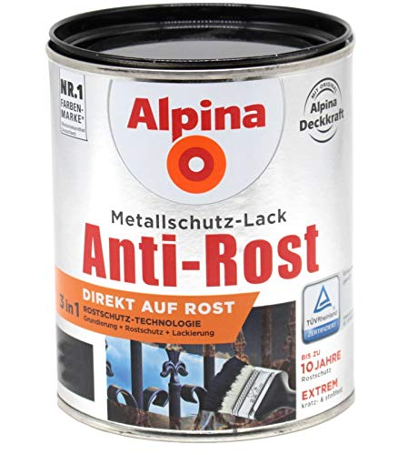 Alpina 3in1 Metallschutzlack 1L Direkt auf...