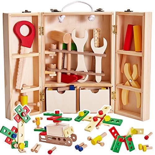 Buyger Holz Werkzeugkoffer Werkzeugkasten...