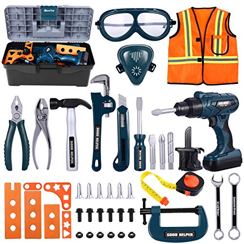 iBaseToy Werkzeugkoffer Kinder - 45 PCS...