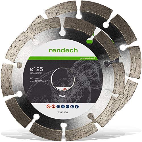 2x Rendech® Diamantscheibe 125mm für Beton,...
