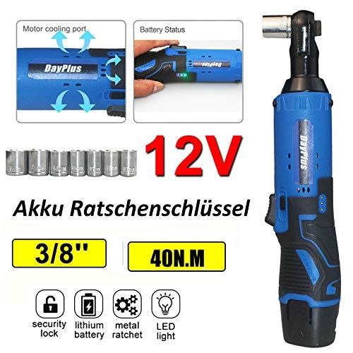 3/8' Akku Ratschenschlüssel Satz, 40Nm 12V...