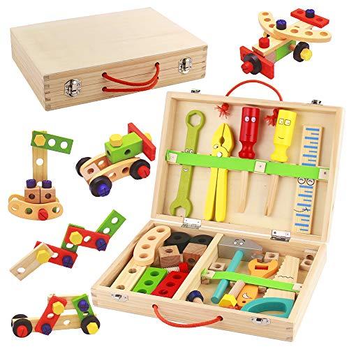 Werkzeugkoffer Kinder Holz Werkzeug...