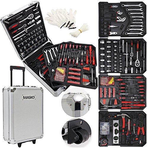 Masko® 969 tlg Werkzeugkoffer Werkzeugkasten...