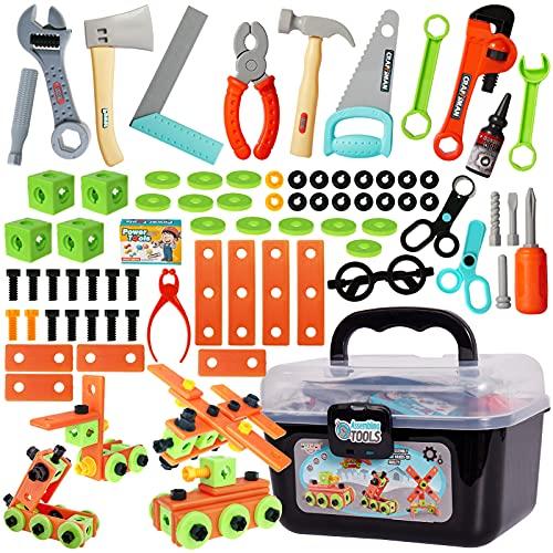 Buyger 82 Stück Werkzeugset Spielzeug...
