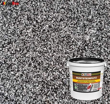 Buntsteinputz Mosaikputz BP30 (schwarz, grau,...